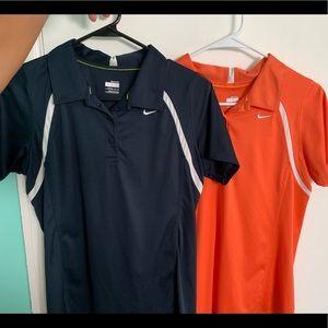 2 Nike Golf Polos